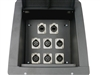 Elite Core Recessed Stage Floor Box 4 XLR Female & 2 XLR Male & 2 Ethernet RJ45