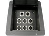 Elite Core Recessed Stage Floor Box 6 XLR Female & 1 XLR Male & 1 Ethernet RJ45