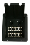 Elite Core Recessed Stage Audio Floor Box with 8 -XLR + 2 Speakon Connectors