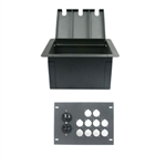 Elite Core Recessed Floor Box With 10 D Holes and Duplex AC Outlet