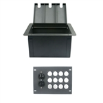 Elite Core Recessed Floor Box With 12 D Holes and Duplex AC Outlet
