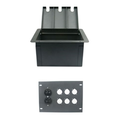 Elite Core Recessed Floor Box With 6 D Holes and Duplex AC Outlet
