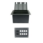 Elite Core Recessed Floor Box With 8 D Holes and Duplex AC Outlet