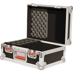 Gator ATA Flight Microphone Road Case Holds up to 15 Mics