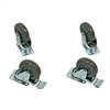 "jameson ata rack road case 4"" caster wheels with brake"