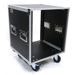 OSP 12 Space Deluxe Amp or Effects Studio Rack Case w/Wheels KD12U