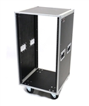 OSP 16 Space Deluxe Amp or Effects Studio Rack Case w/Wheels