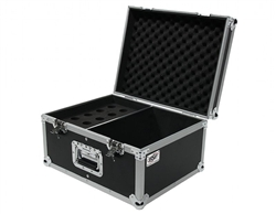 osp microphone ata flight road case fits up to 15 ball or straight mics