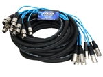 elite core 8 Channel 50' fan to fan xlr extension snake PEX850