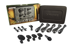 Shure 5 Microphone Studio Live Drum Kit Package PGADRUMKIT5