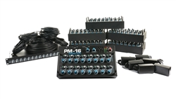 Elite Core PM-16 Complete Personal Mixer 6 User Pack w/IM-16 Analog Input Module