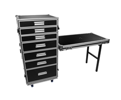 OSP PRO-WORK Utility ATA Flight Road Case with 7 Drawers