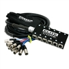 osp elite core 8 x 4 channel stage snake 25'