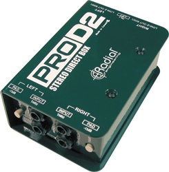 Radial Engineering ProD2 Dual 2 Channel Stereo Passive Direct Box DI