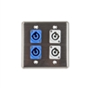 OSP Q-4-2PCA2PCB Quad Wall Plate w/ 2 Powercon A and 2 Powercon B