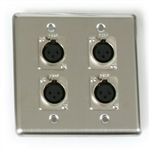 OSP Quad Wall Plate With Four - XLR