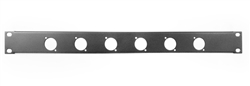 1U Space Punched Rack Panel 6 holes XLR D series Black Metal by Elite core