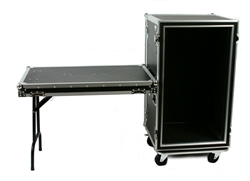 osp 20 space ata amp shock mount flight road case with lid table