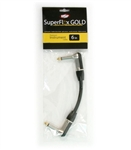 OSP SuperFlex GOLD Premium Instrument Cable 6 Inch RA-RA