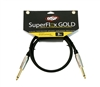 OSP SuperFlex GOLD Premium Instrument Cable 3 Ft