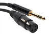 SuperFlex GOLD Patch Cable, XLR Female to TRS - 3' Length