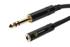 SuperFlex GOLD Patch Cable, TRS to 3.5mm Female - 10' Length