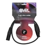 vrl dmx 3 pin lighting cable 2'