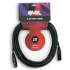 vrl dmx 3 pin pro stage lighting cable 25'
