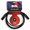 VRL DMX 5 Pin Pro Lighting Cable 5' ft - Data Shielded Cables