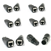 VRL RJ45 Ethernet to 5 Pin XLR DMX Female & Male Adapter Sets