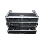 Prox  X-4WM2DR wireless system ata flight road case holds 4 wireless handheld mic systems