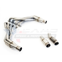 "2016 Chevrolet Camaro Texas Speed & Performance 1-7/8"" Stainless Steel Long Tube Headers & Off-Road Connection Pipes, 2016+ Camaro SS"