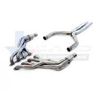 "2016 Chevrolet Camaro Texas Speed & Performance 1-7/8"" Stainless Steel Long Tube Headers & 3"" Stainless Steel Catted X-Pipe, 2016+ Camaro SS & 1LE"