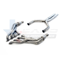"2016 Chevrolet Camaro Texas Speed & Performance 1-7/8"" Stainless Steel Long Tube Headers & 3"" Stainless Steel Off-Road X-Pipe, 2016+ Camaro SS"