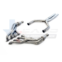 "2016 Chevrolet Camaro Texas Speed & Performance 2.00"" Stainless Steel Long Tube Headers & 3"" Stainless Steel Off-Road X-Pipe, 2016+ Camaro SS"