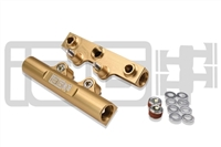 IAG V3 TOP FEED FUEL RAILS FOR 2002-14 SUBARU WRX, 08-17 STI, 07-12 LGT, 06-13 FXT (GOLD FINISH)