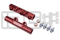 IAG V2 TOP FEED FUEL RAILS FOR 2002-14 SUBARU WRX, 07-17 STI, 08-12 LGT, 06-13 FXT (RED FINISH)