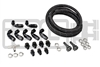 IAG BRAIDED FUEL LINE & FITTING KIT FOR IAG TOP FEED FUEL RAILS & -6 AEROMOTIVE FPR