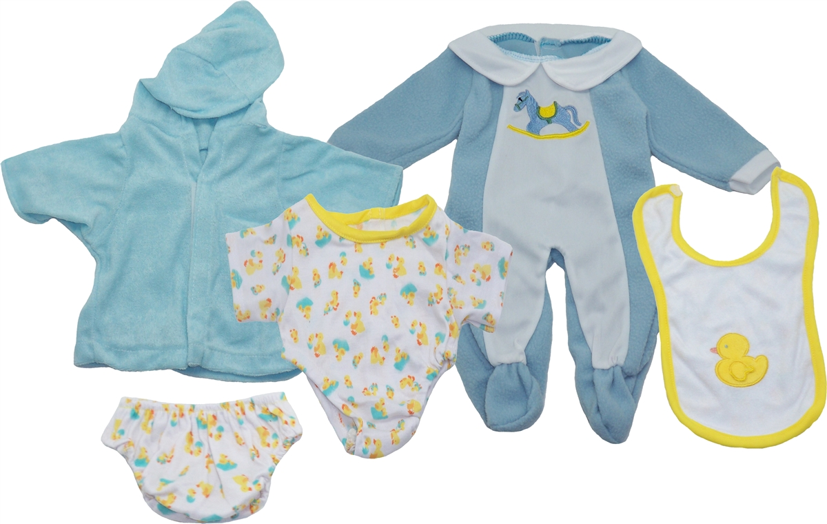 Get Ready Kids Baby Boy Doll Clothes Set
