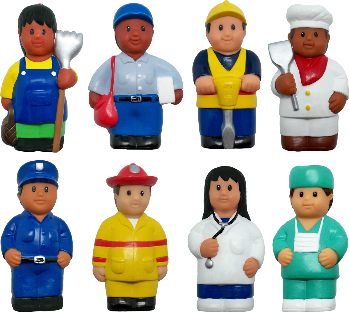 Get Ready Kids Set Of 8 Career Figures