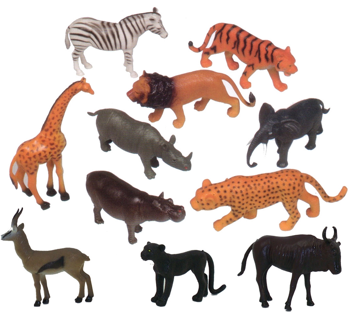 Get Ready Kids 11 Pc Zoo Animal Playset