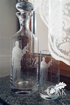 Etched Decanter Set
