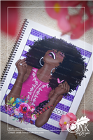 8 1/2 x 11 Black Girl Notebook