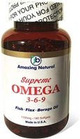 Supreme Omega 3-6-9 Fish & Borage & Flax Oil (180)