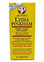 Lydia Pinkham Herbal Supplement w/ Black Cohosh Menopause 72 Tablets