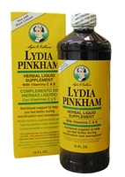 Lydia Pinkham Liquid Herbal Supplement w/ Black Cohosh Menopause 16 oz