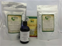 Herbal Weight Loss Kit - 2x 100 Vegetarian Capsules, 100ml Tincture & 50 Tea Bags