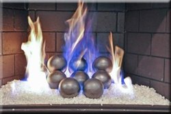 4 inch silver porcelain coated Fire balls