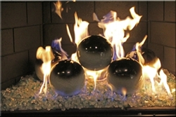 6 inch black on White high fire Terracotta fireball
