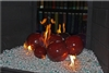 High fire 6 inch Dark red porcelain coated high fire Terracotta fireball